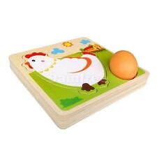 Kids Multi Layer Wooden Puzzles Chicken Hen Growing Up Learning Toys