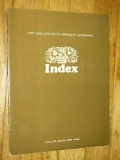THE TIME LIFE ENCYCLOPEDIA OF GARDENING - INDEX