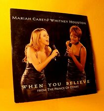 cardsleeve single CD MARIAH CAREY & WHITNEY HOUSTON When You Believe 2TR 1999