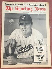 8-31-68 SPORTING NEWS MINNESOTA TWINS TED UHLAENDER ON COVER