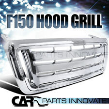 2004-2008 FORD F150 PICKUP TRUCK 1PC BILLET CHROME FRONT HOOD GRILL GRILLE
