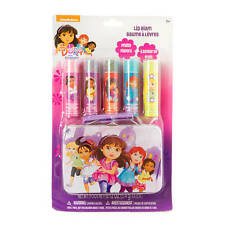 Nickelodeon Dora the Explorer Flavored Lip Gloss Gift Lip Balm Set 5 & Bonus Tin