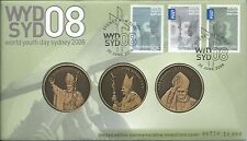 2008 WYD Pope FDI 30 June 2008 Set 3 Medallians Cover High Value Cost $29.95
