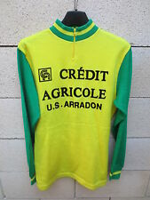 VINTAGE Maillot cycliste U.S ARRADON CREDIT AGRICOLE cycling jersey maglia S / M