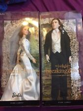 Barbie Twilight Bella & Edward Wedding Dolls Brand New Breaking Dawn Pink Label