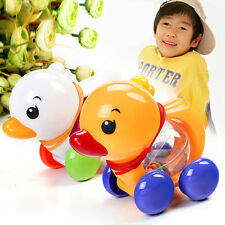 Toddler Kids Baby Learn Walk Toy Classic Pull Along Plastic Duck Musical Toy