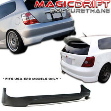02 03 04 05 Honda Civic Si Hatch HB EP3 Type-R CTR Style Rear Lower Bumper Lip