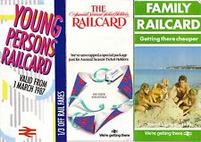 6 x Railcard Leaflets - British Rail Network Family Senior Citizen - Unmarked