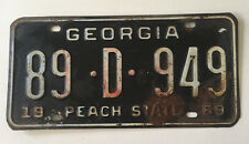 Vintage 1969 Georgia Automobile License Plate Tag Mustang Chevelle Camaro 89D949