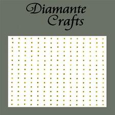 240 x 1mm Gold Diamante Self Adhesive Rhinestone Body Nail Vajazzle Gems