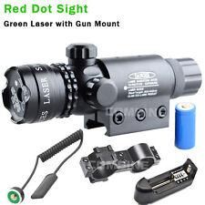tactique rechargeable Green Dot Laser vue canon fusil portée Rail & Barrel Mont