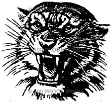 100 PROOF PRESS RUBBER STAMPS TIGER HEAD STAMP