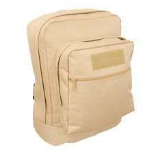 UTILITY BACKPACK MILITARY TAN Water Resistant Day Pack Book Bag Name Tag