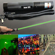 Green Laser Pointer Adjustable Focus 1mw Pen 532nm Burning Beam Light Lazer DKUR