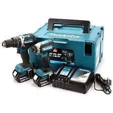 Makita dlx2180tj Twin Pack Brushless Trapano Combi & Autista Impatto 2 x 5.0ah le batterie