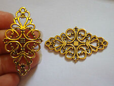10 gold charms pendants antique jewellery making finding wholesale UK
