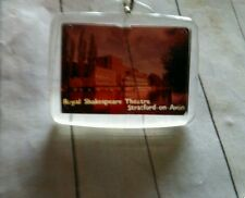 Vintage negative picture Royal Shakespeare Theatre souvenir Keychain Fob