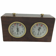 Tournament Chess and Scrabble Timer Wind Up Wood Case