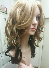 blonde, brown, black curly human hair wig