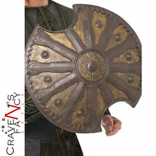 Achilles Shield Greek Soldier Adult Mens Spartan Fancy Dress Costume Accessory