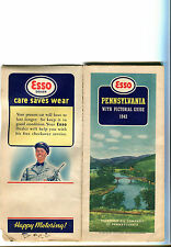 1942 Esso Pennsylvania Vintage Road Map