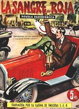 1954 - LA SANGRE ES ROJA - GUILLERMO SAUTIER - COMPLETA en 10 fascículos