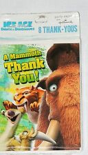 ~ ICE AGE-DAWN OF THE DINOSAURS  ~8- THANK YOU NOTES   PARTY SUPPLIES