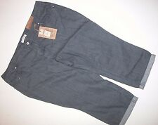 NEW NWT Coldwater Creek Gray Denim Pants 20 Woman's Natural Fit Cropped Leg