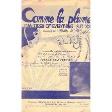COMME LA PLUME Revue PALACE AUX FEMMES Chant Jenny GOLDER musique ISHAM JONES