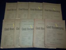 1890 GOOD HOUSEKEEPING MAGAZINE LOT OF 9 ISSUES - GREAT ADS & ILLUS. - WR 239E