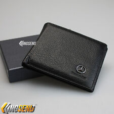 Mercedes Benz Wallet Genuine 100% Cow Leather Bifold Men Slim ID Purse Car Pouch