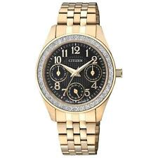 Citizen ED8132-55E Women's Gold Tone Multifunction Swarovski Japan Quartz Watch