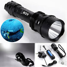 100M Dive CREE XM-L2 T6 LED Scuba Diving Flashlight Torch Underwater Lamp