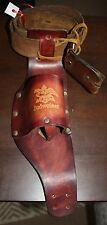 VINTAGE BUDWEISER LEATHER BOTTLE HOLSTER & LEATHER BELT HAWAIIAN COWBOY PANIOLO