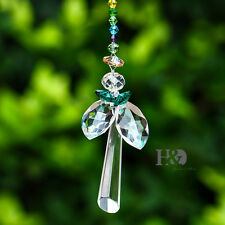 Crystal Angel Design Suncatcher Ornament Window Hanging Pendant for Healing Gift