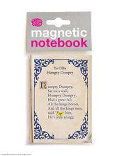 Brainbox Candy Humpty Dumpty Funny grosero Magnético notebook/pad Regalo De Navidad