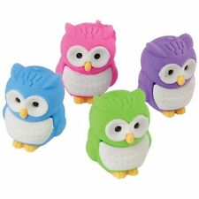 12 Owl Erasers Party Favor  Bird Party Garden Birthday Farm