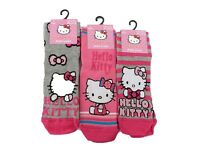 GIRLS 3/pairs OFFICIAL SANRIO HELLO KITTY CHARACTER PATTERN DESIGN SOCKS CAT