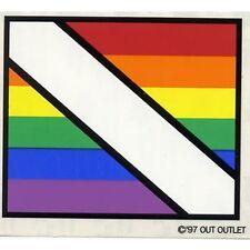"""LGBT Gay & Lesbian Rainbow Pride Window / Car Sticker Diver Down 4""""x3.5"""""""