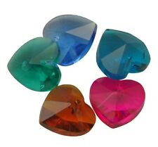 12 x Heart Faceted Glass Crystal Beads 10mm - GB7
