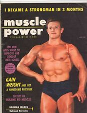 Muscle Power Bodybuilding fitness magazine NORMAN MARKS/Jerry Ross 1-56
