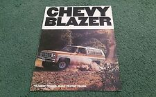 1977 Model CHEVY Chevrolet BLAZER C10 2WD / K10 4WD - USA COLOUR BROCHURE