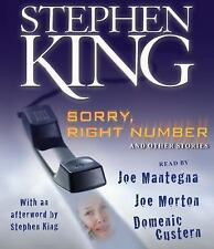 SORRY, RIGHT NUMBER unabridged audio book on CD by STEPHEN KING