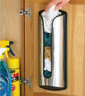 Plastic Carrier Bag Storage Holder Dispenser Store Recycle Bags Stainless Steel
