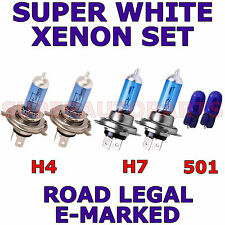 FITS AUDI A3  1997-2002   SET H4  H7  501 SUPER WHITE XENON LIGHT BULBS