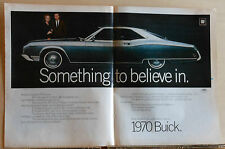 1969 double page magazine ad for Buick - 1970 Riviera, Something to Believe In