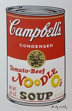 ANDY WARHOL CAMPBELL'S SOUP 2 TOMATO BEEF NOODLE O's SIGNED HAND NUMBERED LITHO