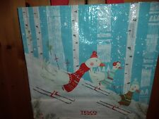TESCO CHRISTMAS MEDIUM SKING GEASE SHOPPING BAG BNWT SHOPPER (NEW)