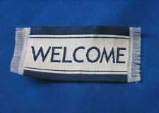 Dolls House 12th Scale - Welcome Mat Navy & White