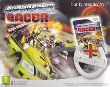 Nintendo Wii Bundle pack **SUPERSONIC RACER + VOLANTE** nuovo import